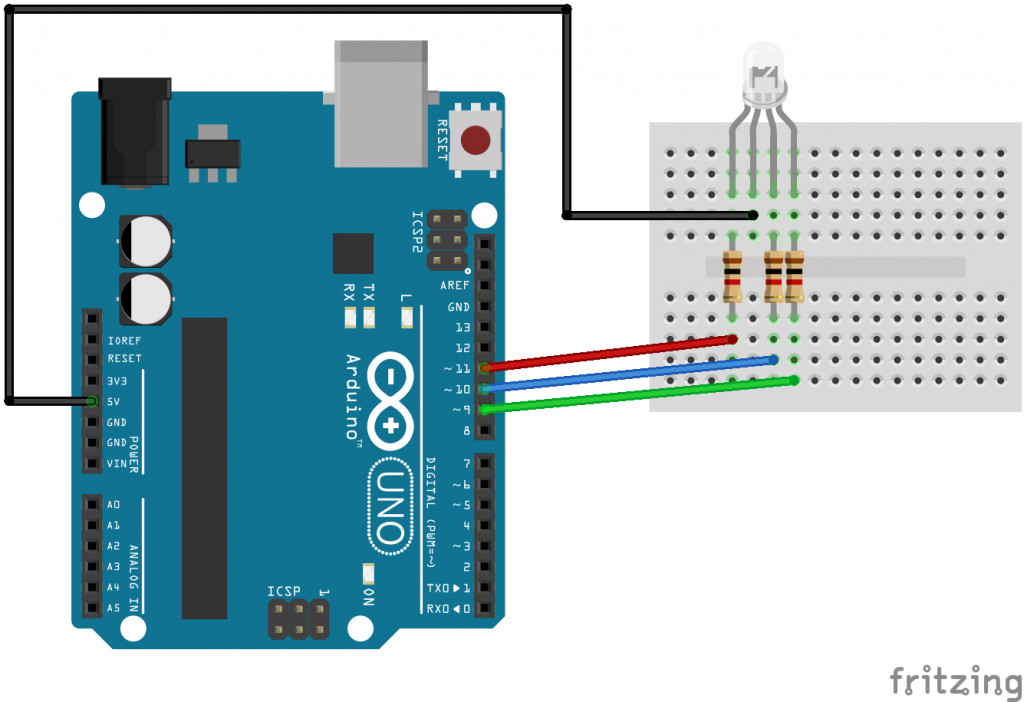 Arduino Uno and RGB LED_bb