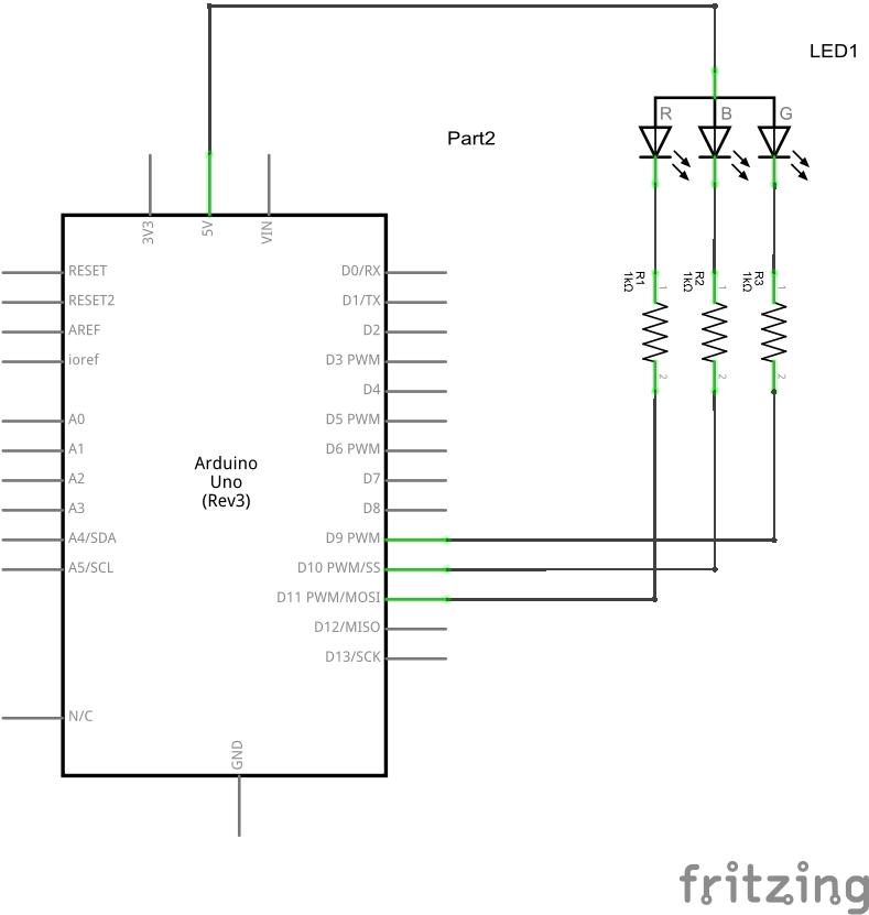 Arduino Uno and RGB LED_schem