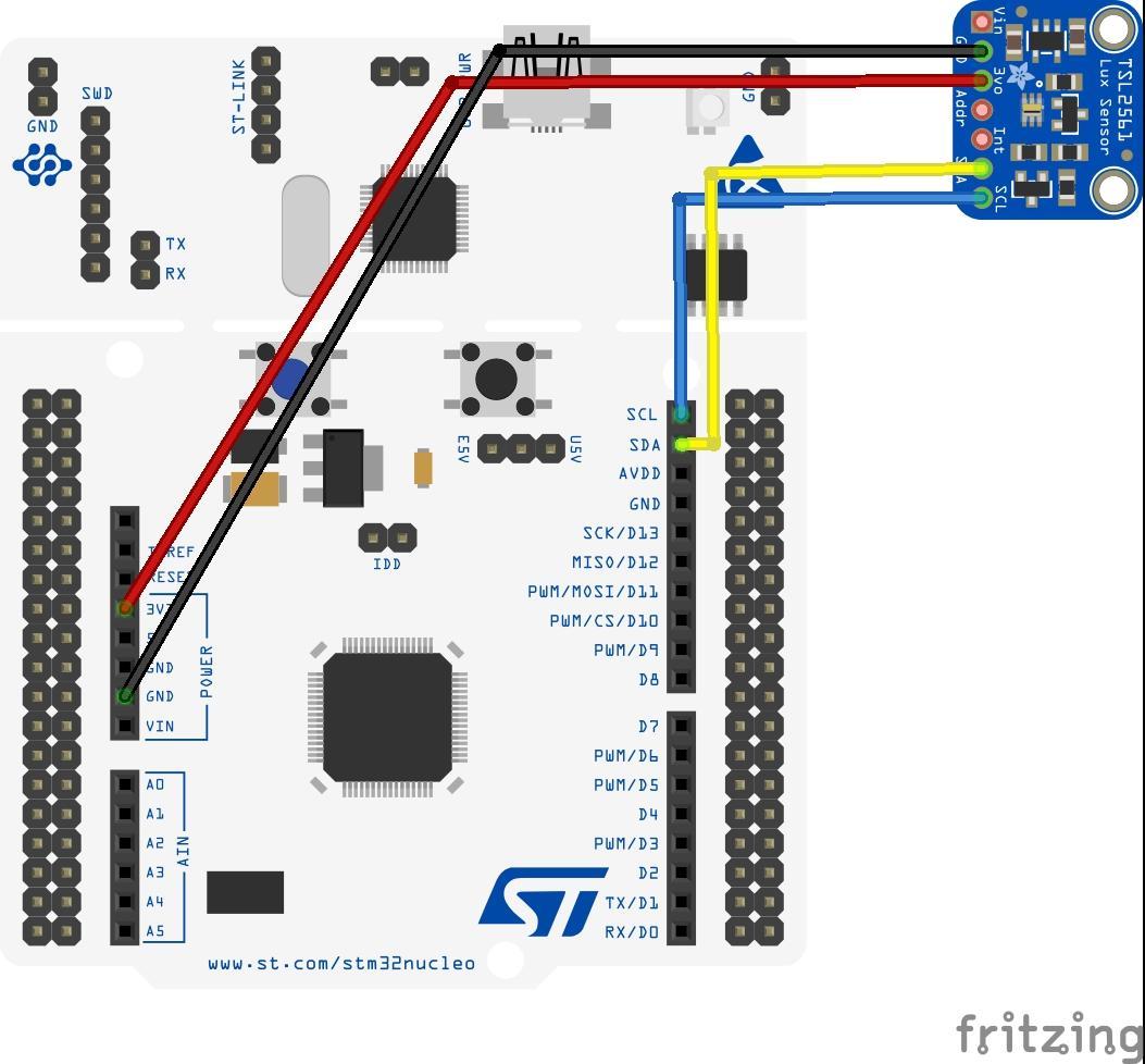 stm32 and TSL2561
