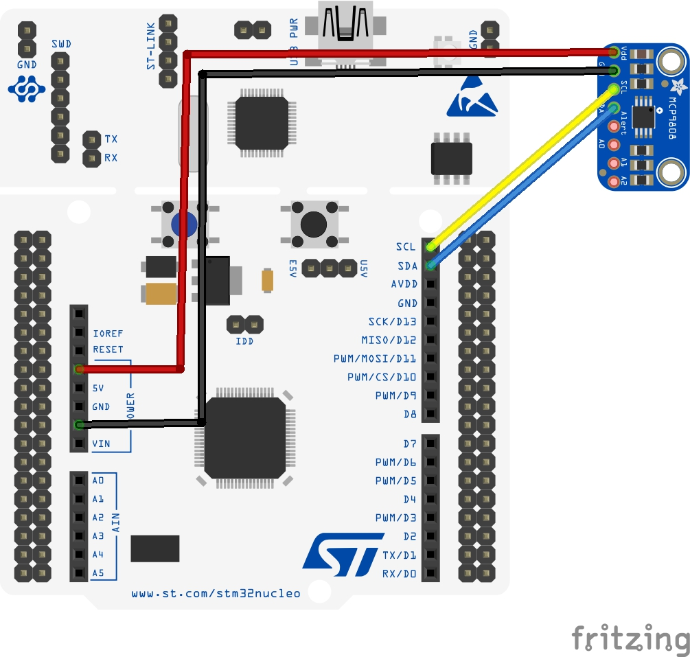 stm32 and mcp9808