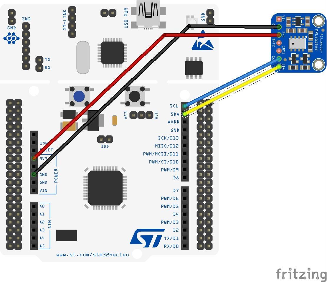 stm32 nucleo and MPL3115A2 sensor