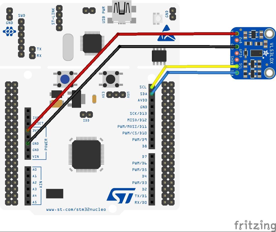 stm32 nucleo and VL53L0X sensor